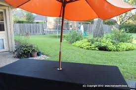 Tablecloth For Umbrella Patio Table 7 Ways To Make Umbrella Holes The Bright Ideas