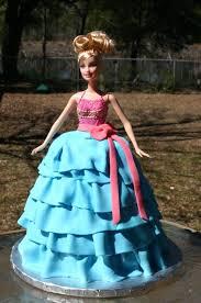 pink blue ruffle skirt barbie doll birthday cake lolo u0027s
