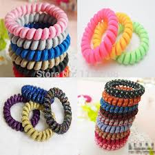 hair tie holder aliexpress buy 10pcs fabric telephone wire hair band wrapped