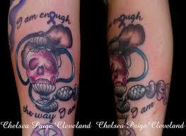 i am enough the way i am arm tattoo by chelsea c on deviantart