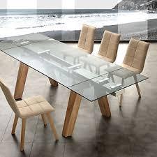 tavoli design cristallo tavolo allungabile in cristallo e legno design soggiorno cucina