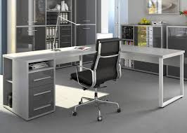 Schreibtisch Winkelkombination H Enverstellbar Sintia Rollcontainer Ii Weiß Hochglanz Lackiert Office Stauraum
