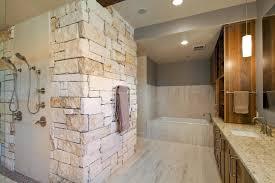 bathroom gallery modern design master bath ideas custom design natural rock wall bathroom decoration ideas with large wooden vanity and