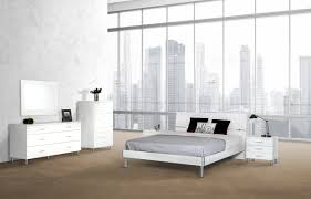 White Queen Bedroom Furniture Modrest Bravo Modern White Bedroom Set