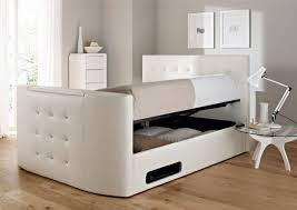 Tempur Ottoman Beds by Double Beds With Storage Henley White Leather Ottoman Concept Bed