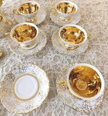vintage haus dresden 22 piece tea set 24k gold trim 1954 west