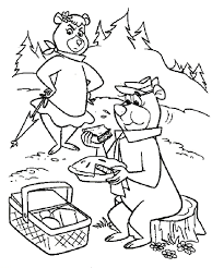 yogi bear coloring pages yogi bear coloring pages childrens