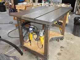 diy portable welding table fabrication fixturing welding table build