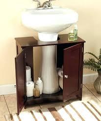 pedestal sink towel bar small pedestal sink elegant design of the cabinet with brown wooden