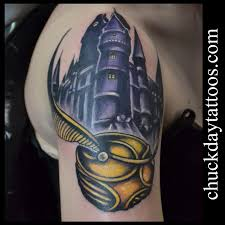golden snitch by chuck day tattoonow