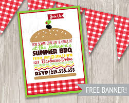 purim party supplies bbq invitation summer picnic invitation summer party burger