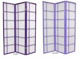 purple shoji screen japanese room divider double cross lattice