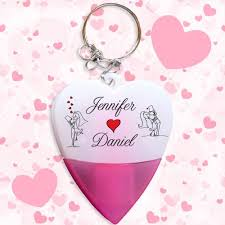 wedding favor keychains heart shaped wedding favors mini highlighter pen keychains w