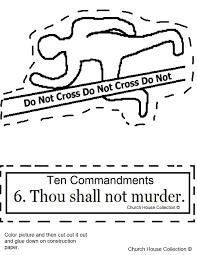 Ten Commandments Worksheets For Kids Church House Collection Blog Ten Commandments