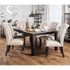 Two Tone Dining Room by Furniture Of America Sheila Rustic Two Tone Dining Table Ebay