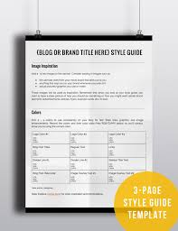 how to create a style guide for your blog or brand blog style