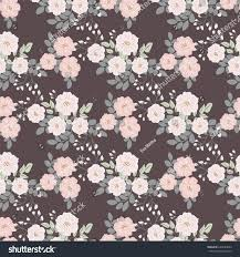 seamless folk pattern small wildflowers country stock vector