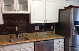 kitchen agreeable chocolate glass subway tile kitchen backsplash