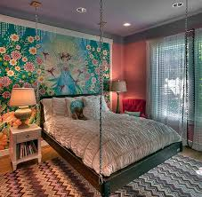 21 creative accent wall ideas for trendy kids bedrooms view in gallery custom wall mural and hanging bed create an ingenious girls bedroom design tamara