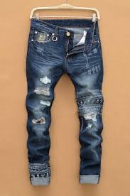 Ripped Denim Jeans For Men Compare Prices On Ripped Denim Jeans Men Online Shopping Buy Low