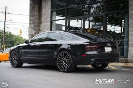 black audi a7 savini wheels