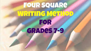 four square writing method for grades 7 9 youtube