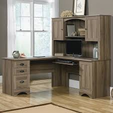 harbor view computer desk with hutch in salt oak nebraska