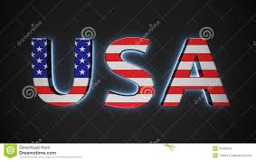 Flag Capital Usa With American Flag Stock Illustration Illustration Of