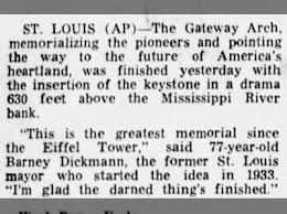 on this day completion of the gateway arch fishwrap