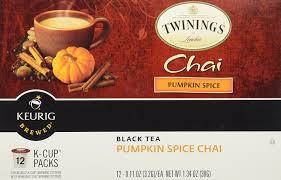 amazon com twinings pumpkin spice chai black tea keurig k cups