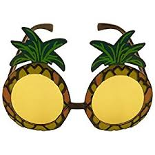 24 Produce Costumes Images Fruit 1 Pineapple Sunglasses Glasses Specs Hawaiian Hula Fancy Dress
