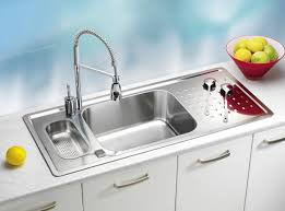 kitchen sink with faucet stainless steel kitchen sinks and modern faucets functional