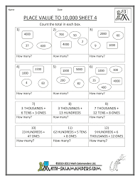 place value worksheets third grade worksheets