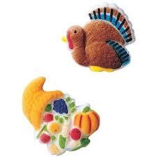 cornucopia decorations thanksgiving fall turkey cornucopia sugar decorations