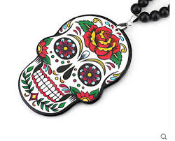 car auto fashion pendant interior skull white jdm hellaflush rear