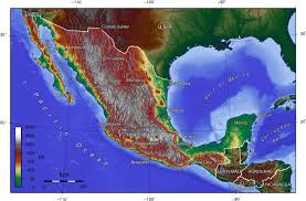 Map Of Mexico by Elevation Map Of Mexico 1400 X 922 Mapporn
