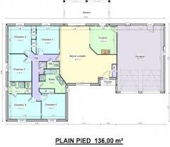 plan maison plain pied 5 chambres délicieux plan maison 5 chambres plain pied 16 grand plain pied