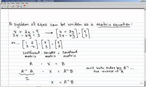 3 8 solving systems of equations using inverse matrices
