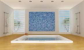 modern electric blue bathroom wallpaper by hd wallpapers daily