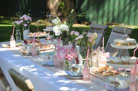 little tea table set table setting very excited little girls each had home art