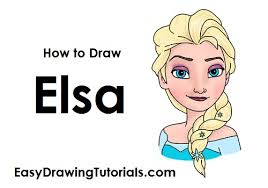 draw elsa frozen