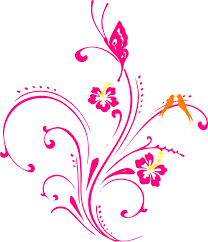 butterfly clip flowers vector clip