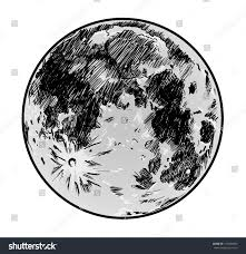 moon drawing on white background stock illustration 137054660