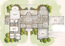 center courtyard home design house design plans