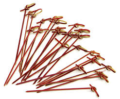 putwo 100 counts bamboo toothpicks cocktail sticks food picks
