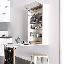 space saving kitchen furniture space saving kitchen table by magnet elle decoration uk