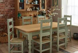 table favored dining table and chairs dark pine and white with