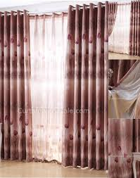 burgundy colored bedroom style eco friendly window length curtains