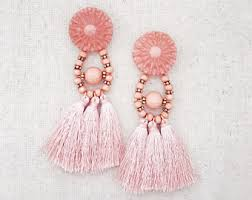 pink earrings pink earrings etsy