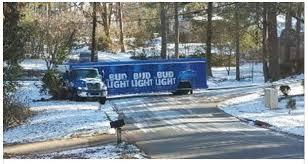 bud light truck driving jobs bud light truck stuck in ice